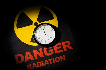 Radiation hazard sign for background Stock Photo - 9327070