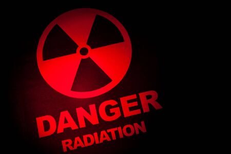 Radiation hazard sign for background Stock Photo - 9327089