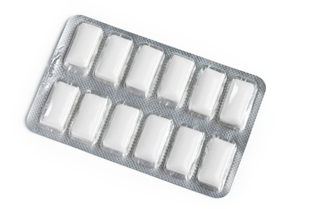 Chewing Gum with white background Imagens