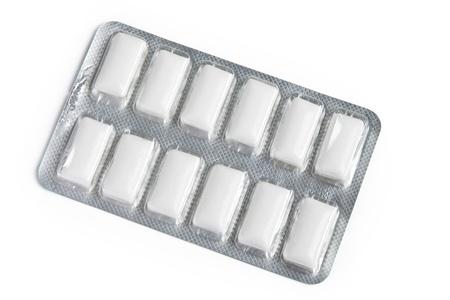 -Guma do żucia: Chewing Gum with white background Zdjęcie Seryjne