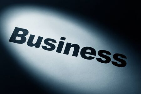 light and word of Business for background   Banco de Imagens