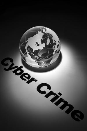 globe, concept of Cyber Crime photo