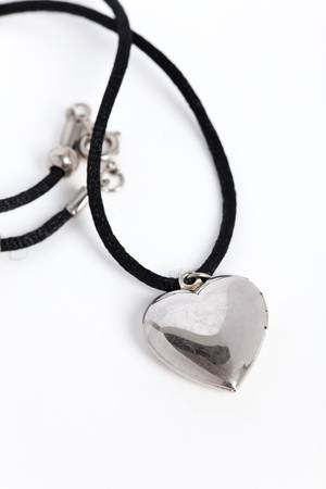 medaglione: silver locket close up shot