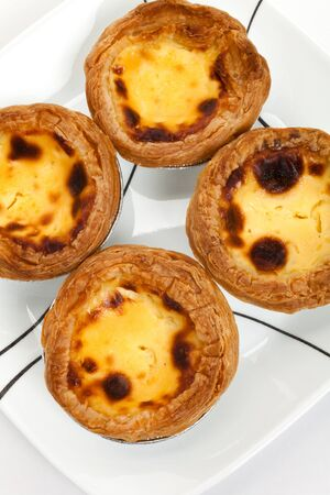 Egg Tart close up shot Reklamní fotografie