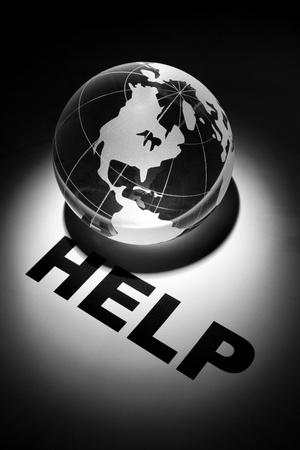 globe, concept of Help   photo