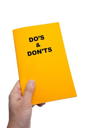 Dos & Donts Book with white background