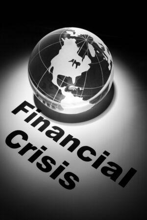 financiele crisis: globe, concept van financi
