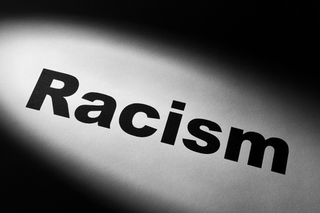 light and word of Racism for background