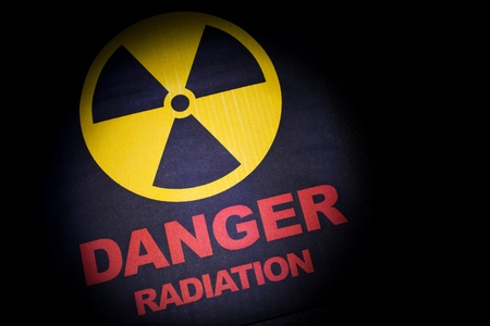 Radiation hazard sign for background photo