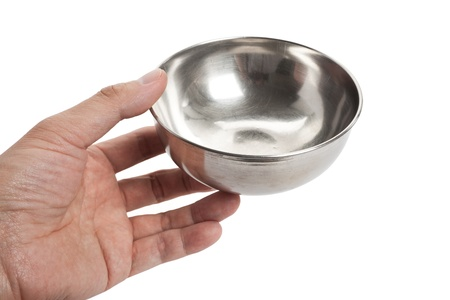 Steel Bowl with white background Stock Photo - 9502053