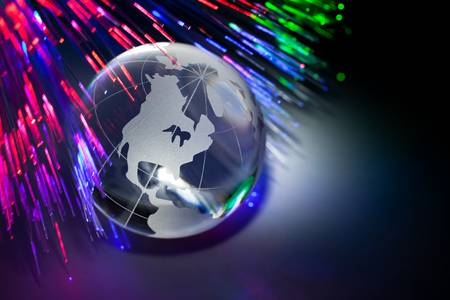 Globe and Fiber Optic for background    photo