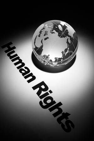 globe, concept of Human Rights    photo