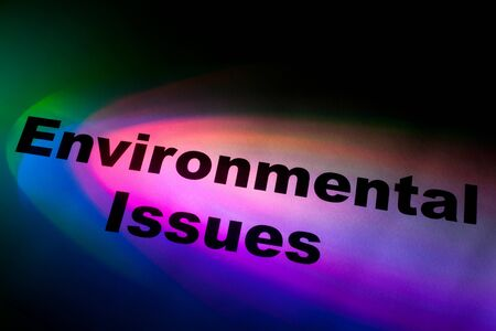 environmental issues: Color light and word of Environmental Issues for background