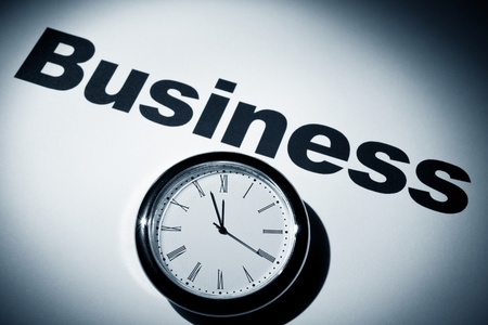 Clock and word of Business for background