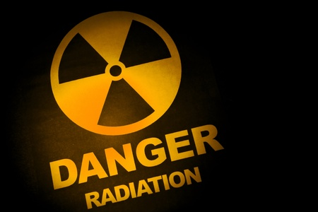 Radiation hazard sign for background Stock Photo - 9544638