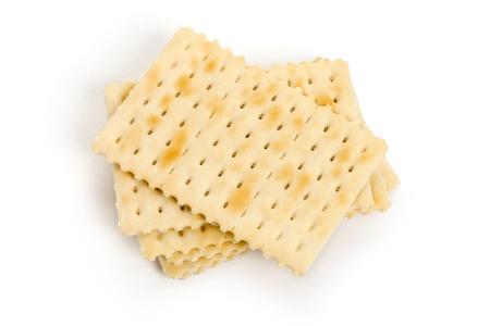 Cracker with white background photo