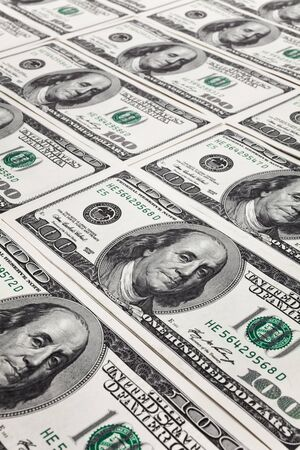 New Hundred Dollar Bills for background Stock Photo - 9544600