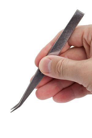 pinzas: Pinzas de metales de cerca disparo