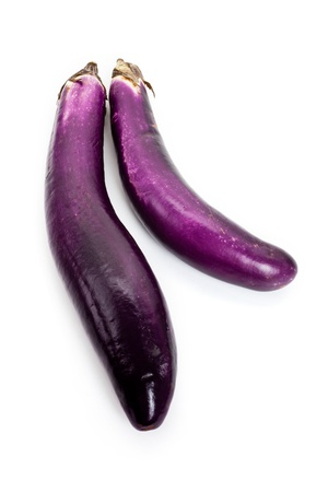 Eggplant with white background