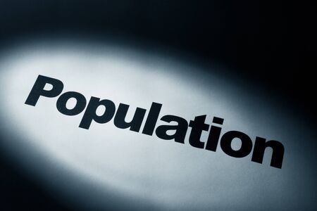 overpopulation: light and word of Population for background   Stock Photo