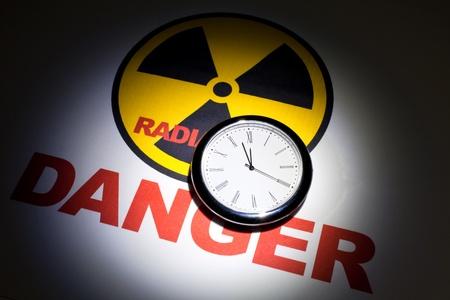 Radiation hazard sign for background