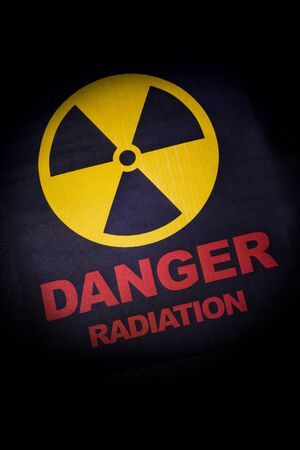 Radiation hazard sign for background Stock Photo - 9582399