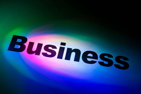 Color light and word of Business for background