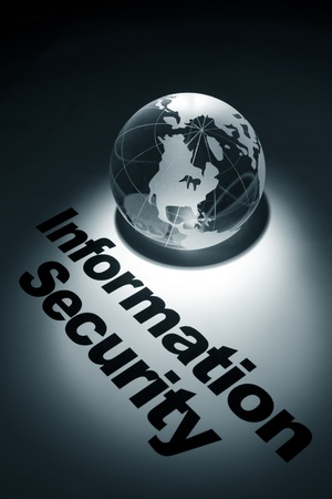 internet crime: globe, concept of Information Security