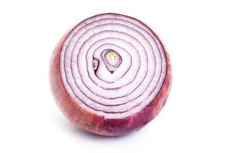 Red onion with white background photo