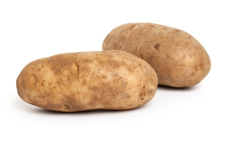 russet: Russet Potato with white background