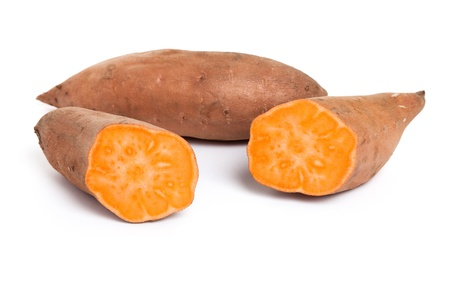 Sweet Potato with white background photo