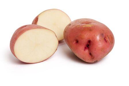 Red Potato with white background photo