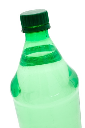 Green Water Bottle with white background