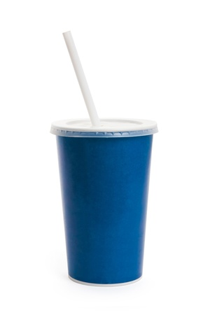 Blue Disposable Cup close up  photo