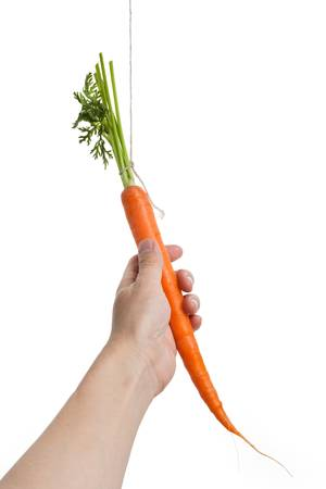 Bungelen wortel met witte achtergrond Stockfoto