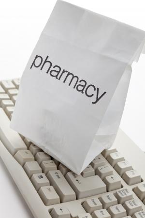 Pharmacy Bag and computer keyboard