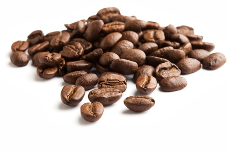 Coffee Bean with white background Imagens