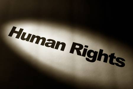 light and word of Human Rights for background   photo