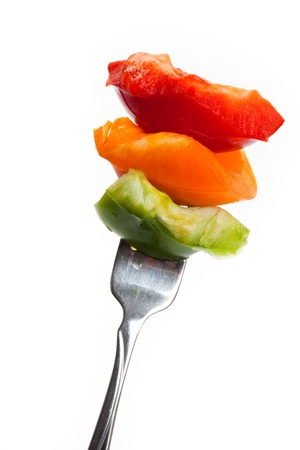 Bell Pepper with white background photo