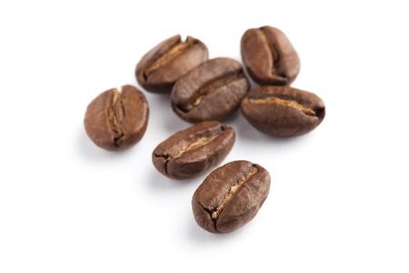 Coffee Bean mit weißem Hintergrund Standard-Bild - 9794954