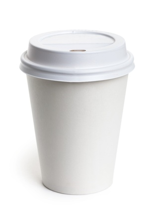 White Paper Cup close up