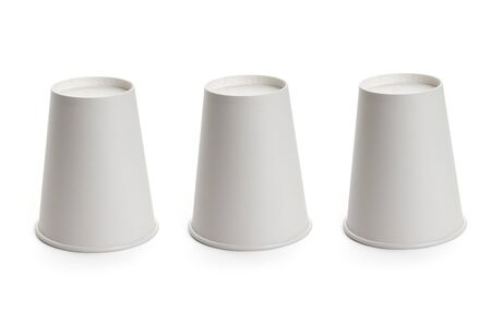 cup: White paper cup, Shell game scam