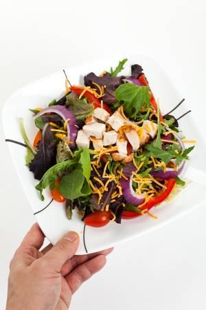 lettuces: Salad, Lettuces, mizuna, onion for background Stock Photo