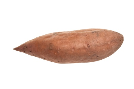 s��kartoffel: S??kartoffel mit wei?em Hintergrund