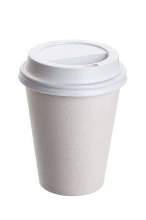 White Paper Cup close up Stock Photo - 9986776