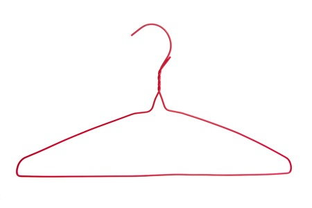 Red Clothes Hanger with white background  Zdjęcie Seryjne
