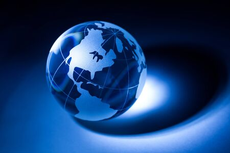 glass sphere: Earth planet,Transparent globe for background