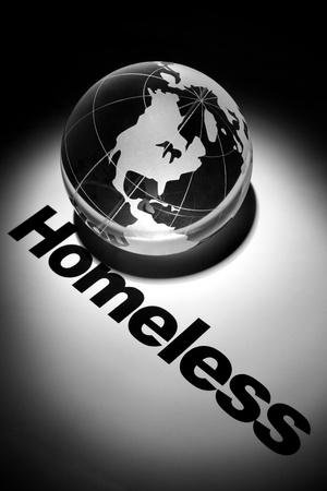 globe, concept of Global Homeless issues    版權商用圖片