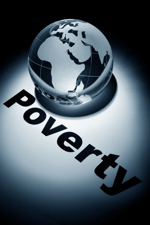 destitution: globe, concept of Global Poverty issues    Stock Photo