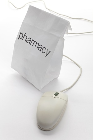 Pharmacy Bag and computer mouse  photo
